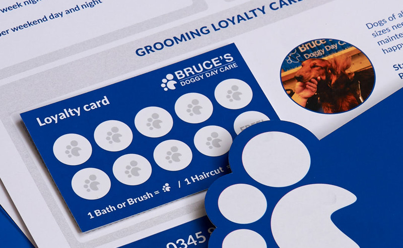 Bruce's Doggy Day Care Loyalty Cards