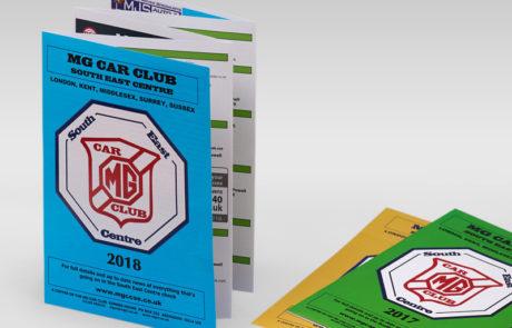 MG Car Club Leaflets