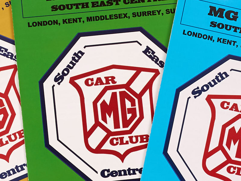 MG Car Club Leaflets