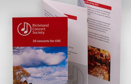 Richmond Concert Society Leaflets