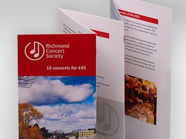 Richmond Concert Society Leaflets